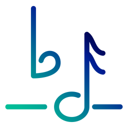 Curso de gradiente de símbolo de nota plana