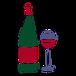 Trazo colorido de vino tinto francés