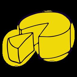 Golpe de queso amarillo francés