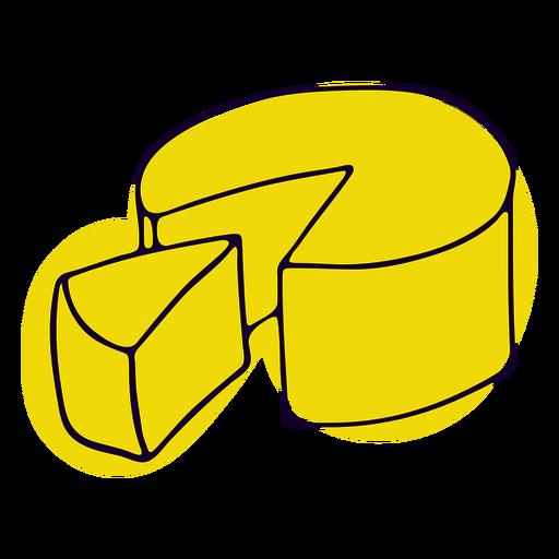 Golpe de queso amarillo francés Transparent PNG
