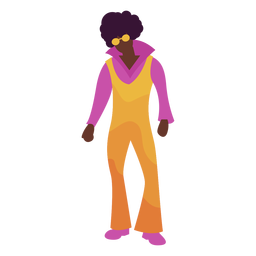 Funny disco outfit stroke