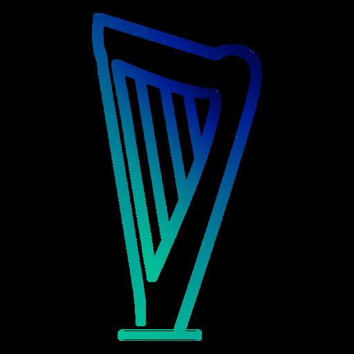 Harp gradient stroke Transparent PNG
