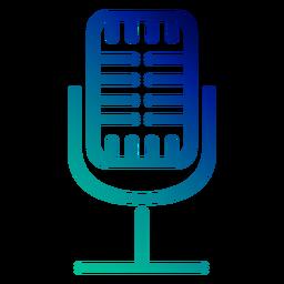 Curso de gradiente de microfone