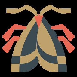 Plano geométrico de mariposa colorido