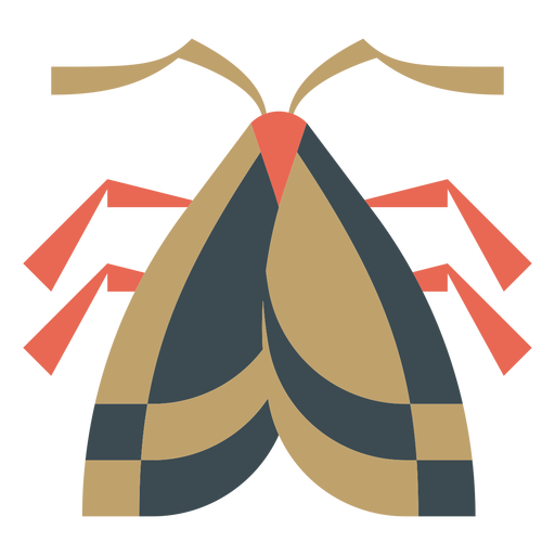 Moth colorful geometric flat Transparent PNG