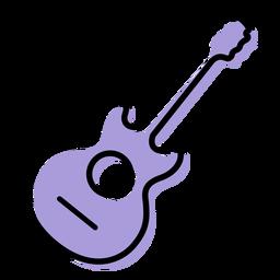 Icono de instrumento de guitarra acústica musical