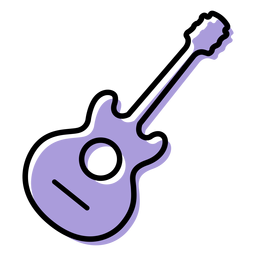 Music acoustic guitar instrument icon