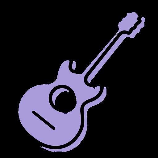 Icono de instrumento de guitarra acústica musical Transparent PNG