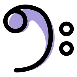 Music bass clef icon