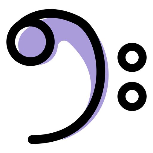 Ícone de clave de sol de música Transparent PNG