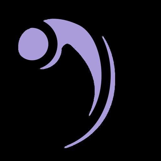 Icono de clave de bajo musical Transparent PNG