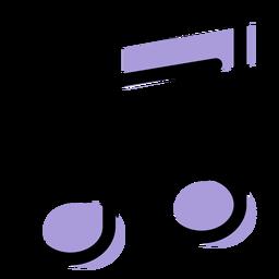 Icono de notas con vigas de música