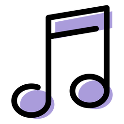 Icono de notas de música transmitida