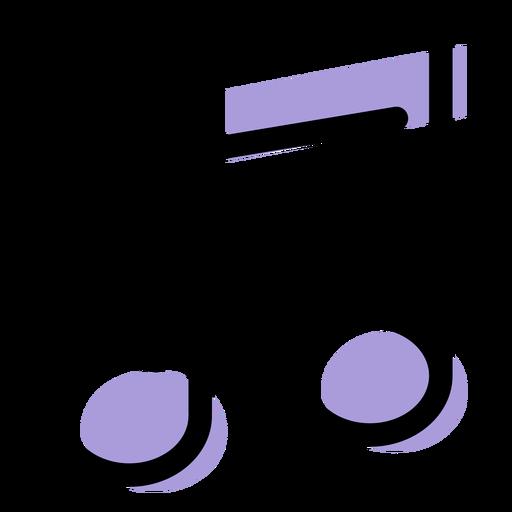 Icono de notas de música transmitida Transparent PNG