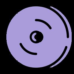 Icono de instrumento de platillo de choque de música
