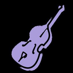 Icono de instrumento de contrabajo de música