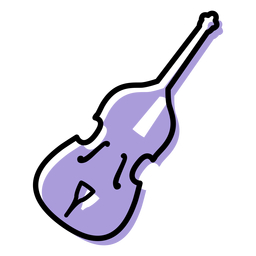 Music double bass instrument icon