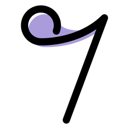 Music eighth note icon