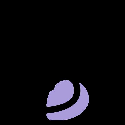 Ícone de símbolo plano de música