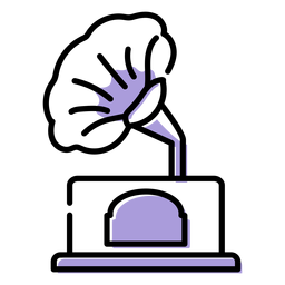 Music gramophone icon