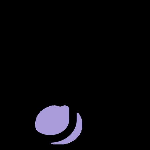 Music half note icon