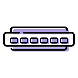 Music harmonica instrument icon
