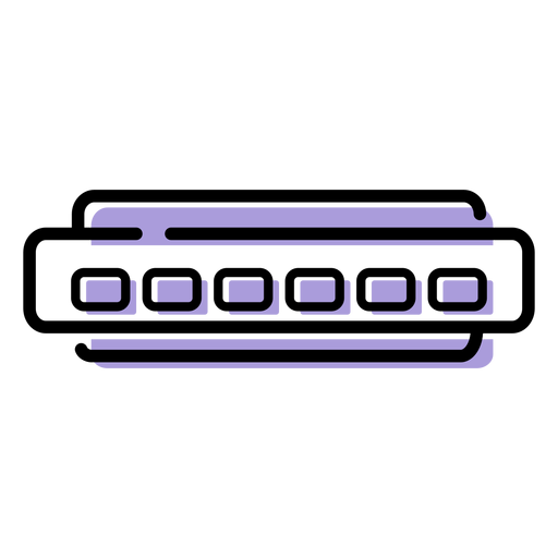 Music harmonica instrument icon