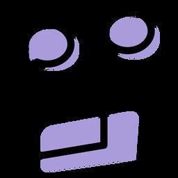 Icono de notas con vigas invertidas de música