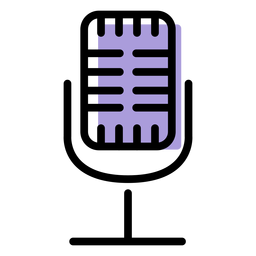 Music microphone icon