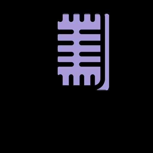 Icono de micrófono de música Transparent PNG