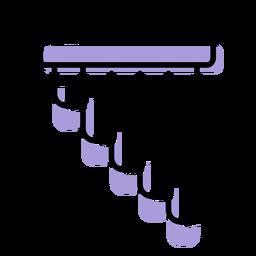 Icono de instrumento de flauta de pan de música