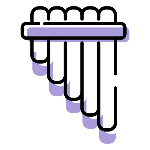 Music pan flute instrument icon Transparent PNG