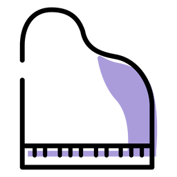 Music piano instrument icon