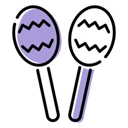 Music rattle instrument icon