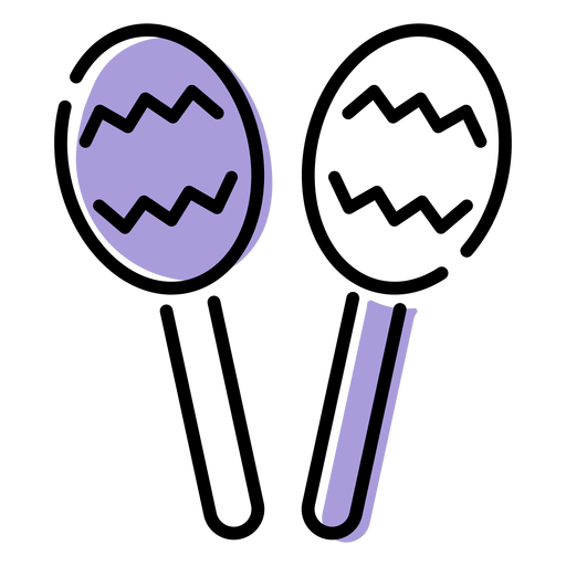 Icono de instrumento musical sonajero