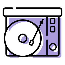 Music record player icon