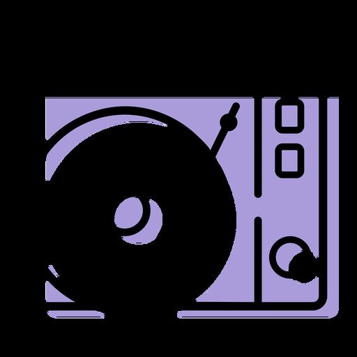 Icono de reproductor de discos de música