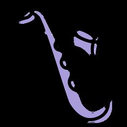 Icono de instrumento de saxofón de música
