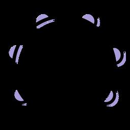 Icono de instrumento de pandereta de música