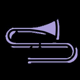 Ícone do instrumento musical trombone
