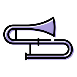 Music trombone instrument icon