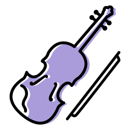 Music violin instrument icon