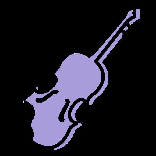 Ícone do instrumento de música violino Transparent PNG