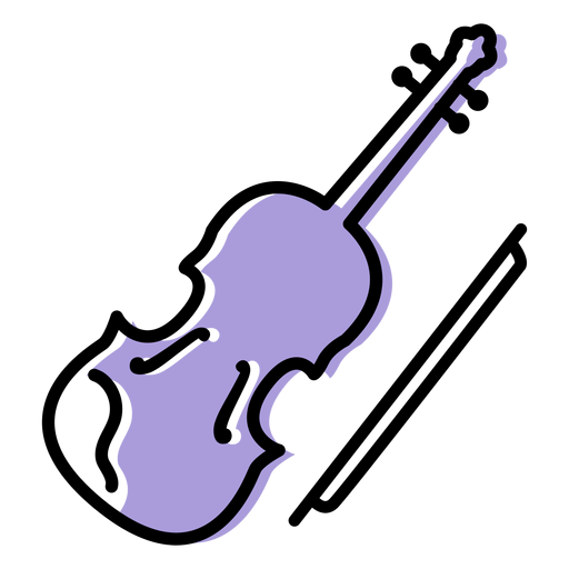 Music violin instrument icon Transparent PNG