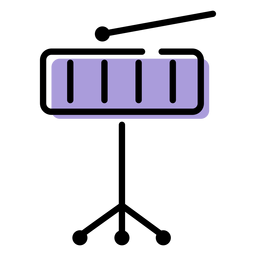 Music xylophone instrument icon