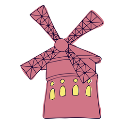 Paris windmill illustration