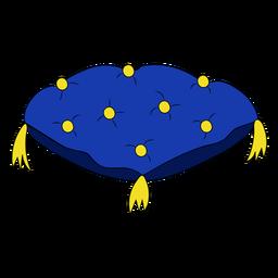 Ilustração de travesseiro do animal de estimação