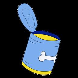 Ilustración de lata de comida para mascotas