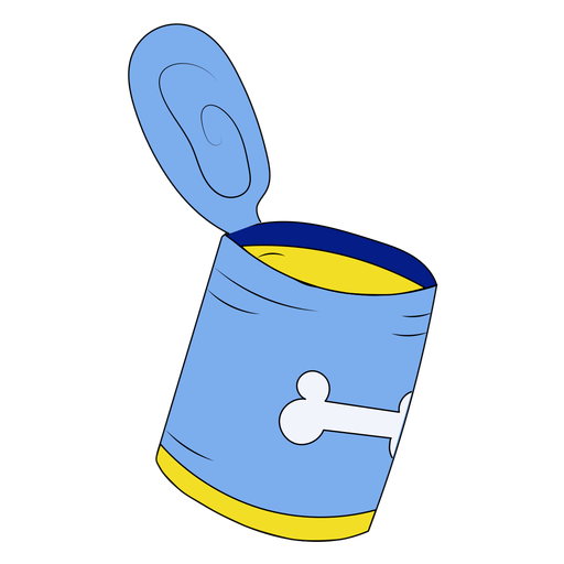 Ilustración de lata de comida para mascotas Transparent PNG