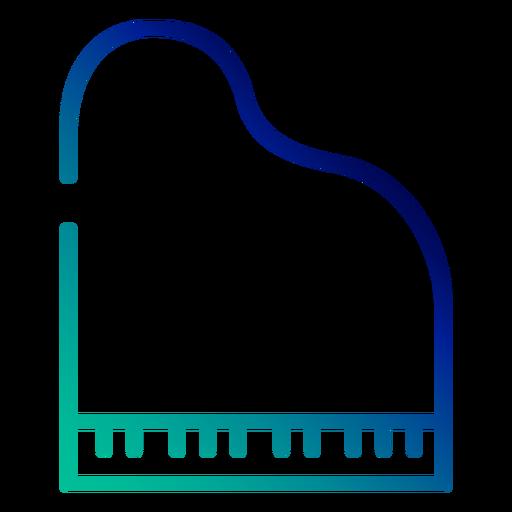 Piano gradient stroke Transparent PNG